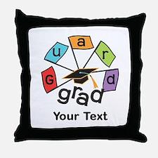 Customize Guard Grad Flags Throw Pillow