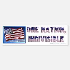 One Nation, Indivisible Bumper Bumper Bumper Sticker