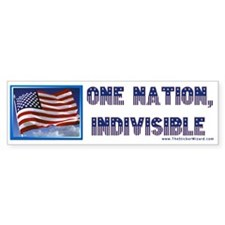 One Nation, Indivisible Bumper Bumper Sticker