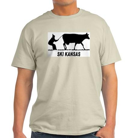 Ski Kansas Ash Grey T-Shirt