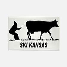 Ski Kansas Rectangle Magnet