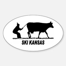 Ski Kansas Oval Decal