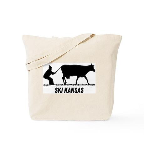 Ski Kansas Tote Bag