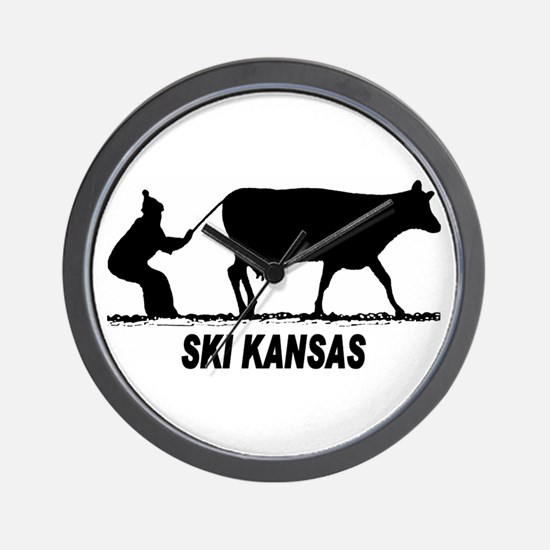 Ski Kansas Wall Clock