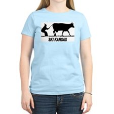 Ski Kansas Women's Pink T-Shirt
