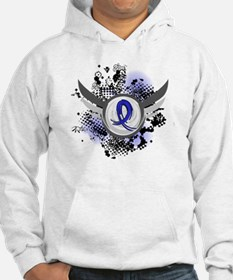 Wings and Ribbon Syringomyelia Hoodie