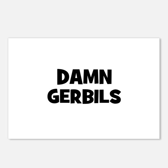 Damn Gerbils Postcards (Package of 8)