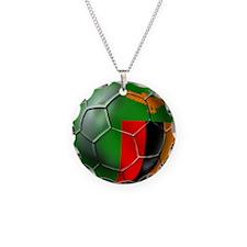 Zambia Football Necklace