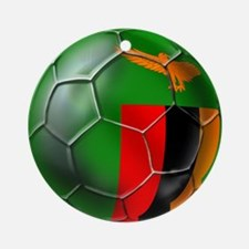 Zambia Football Ornament (Round)