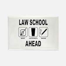 Law School Ahead 2 Rectangle Magnet