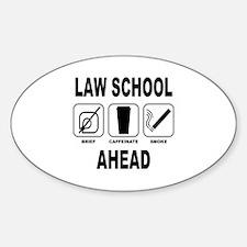 Law School Ahead 2 Decal
