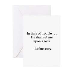 Psalms 27:5 Greeting Cards (Pk of 10)