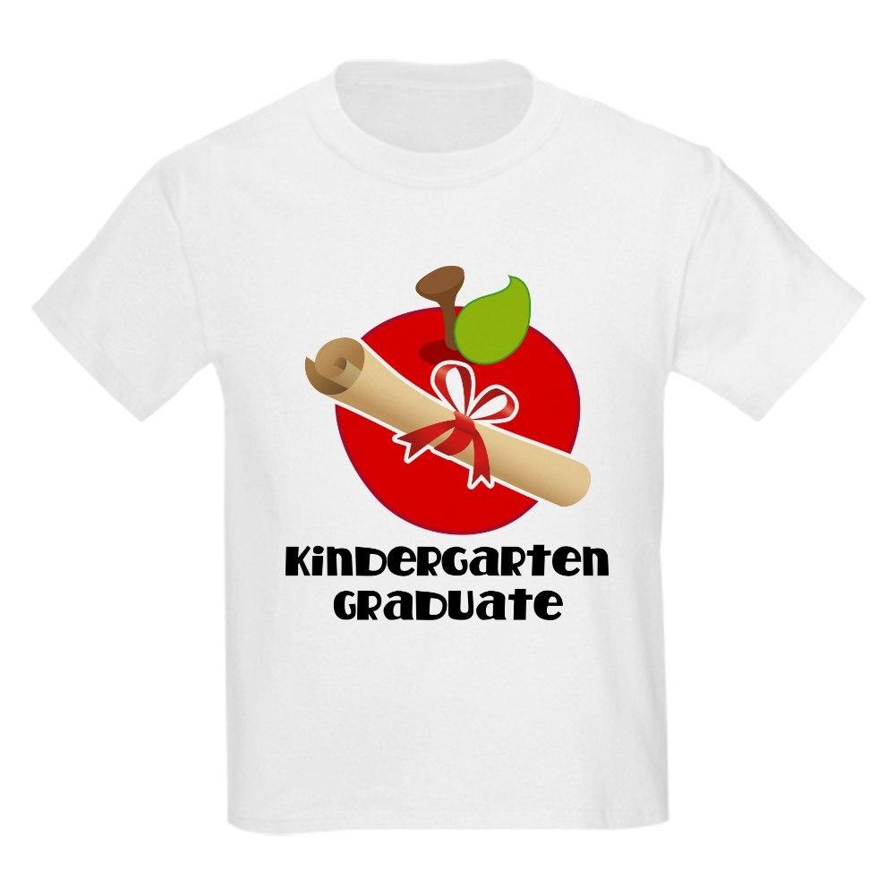 CafePress Kindergarten Graduate Gift Kids Light T-Shirt