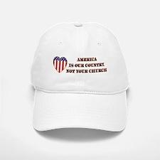 America, Not Your Church Baseball Baseball Cap