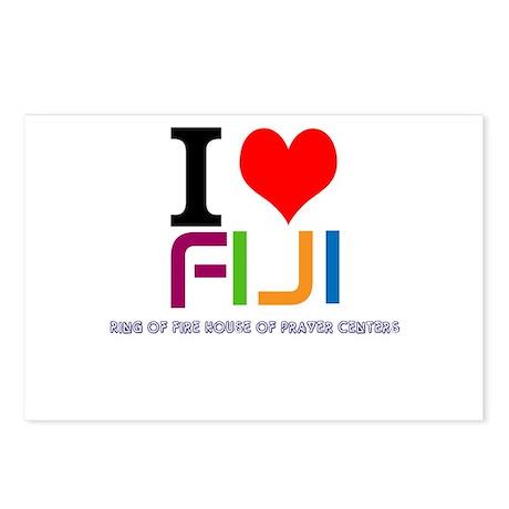I love Fiji Postcards (Package of 8)