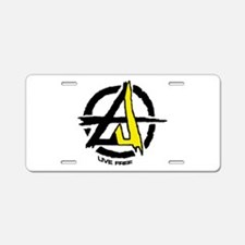 Anarchy / Voluntary Aluminum License Plate