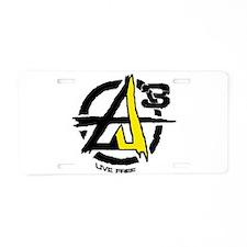 AGORIST Logo Aluminum License Plate