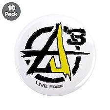 """AGORIST Logo 3.5"""" Button (10 pack)"""