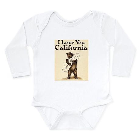 I Love You California Long Sleeve Infant Bodysuit