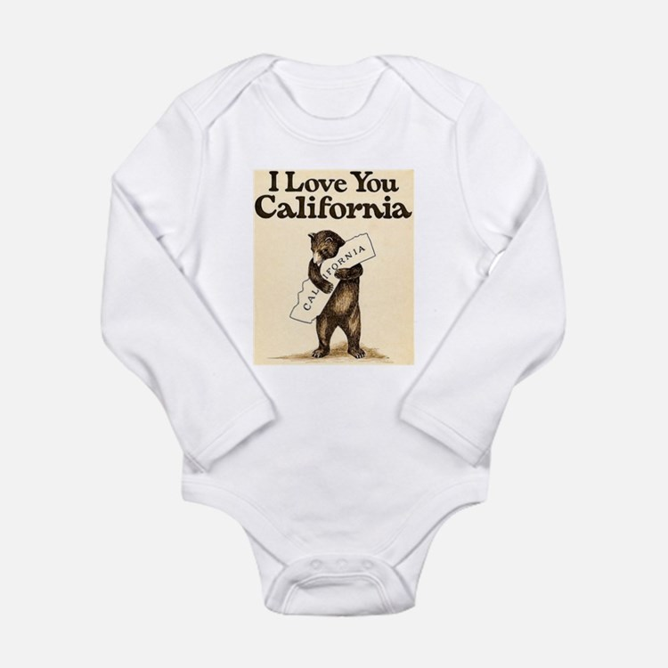 I Love You California Long Sleeve Infant Bodysuit