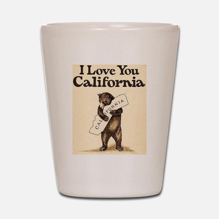 I Love You California Shot Glass