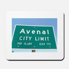 Avenal City Limit Mousepad