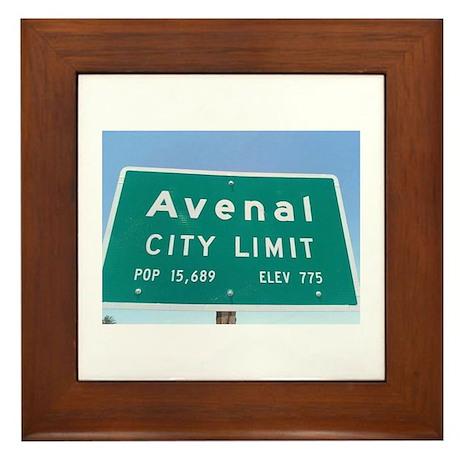 Avenal City Limit Framed Tile