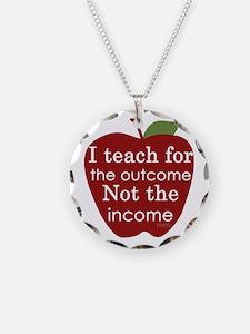 Why I Teach Necklace Circle Charm