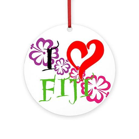 I heart Fiji Ornament (Round)