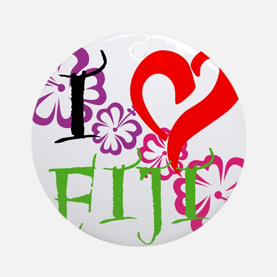 I heart Fiji Ornament (Round)
