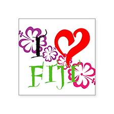 "I heart Fiji Square Sticker 3"" x 3"""