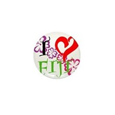 I heart Fiji Mini Button
