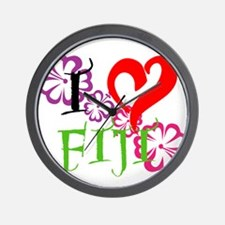 I heart Fiji Wall Clock