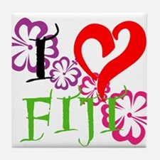 I heart Fiji Tile Coaster