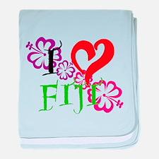 I heart Fiji baby blanket