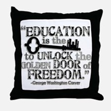 Education Quote Throw Pillow