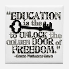 Education Quote Tile Coaster