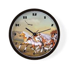 Wild Horses Herd Wall Clock
