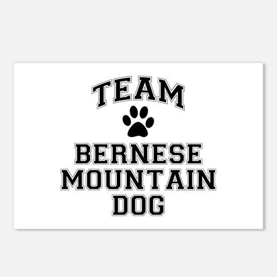 Team Bernese Mountain Dog Postcards (Package of 8)