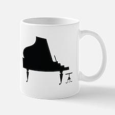 Piano Music Silhouette Mug