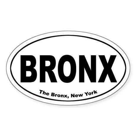 Bronx Oval Sticker