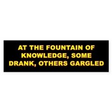 Gargled Bumper Car Sticker