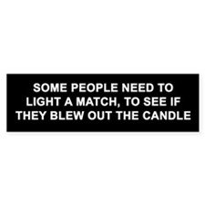 Candle Lite Bumper Car Sticker