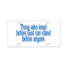 Cute God Aluminum License Plate