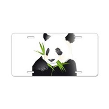 Panda Bear Aluminum License Plate
