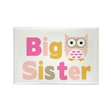 Big Sister Owl T Rectangle Magnet