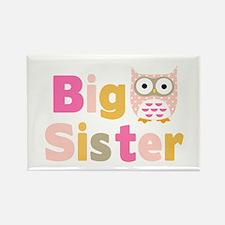 Big Sister Owl T Rectangle Magnet