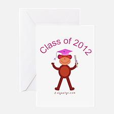Graduation Monkey 2012 Greeting Card