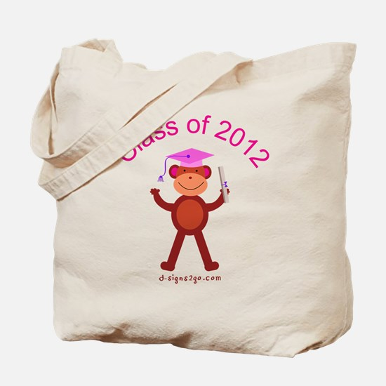Graduation Monkey 2012 Tote Bag