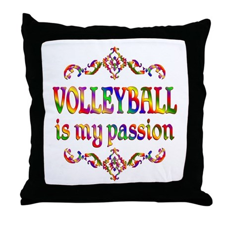 Volleyball Passion Throw Pillow
